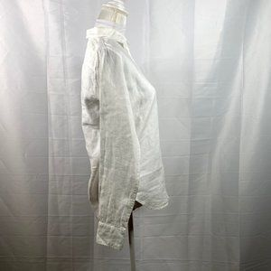 Everlane Tops - everlane women's white linen shirt SZ 00